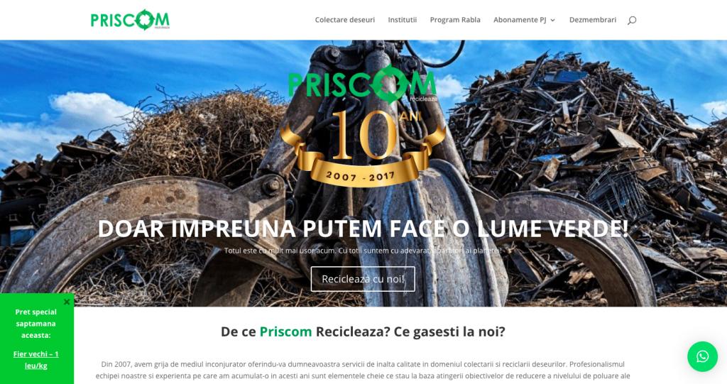 Optimizare website firma colectare deseuri