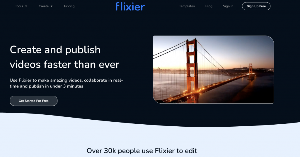 optimziare editor video flixier